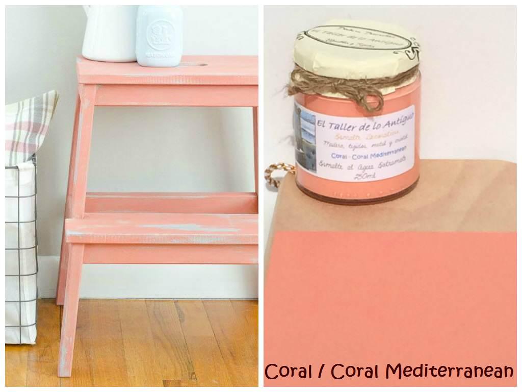 Pintar muebles de color coral el taller de lo antiguo for Colores vintage para muebles