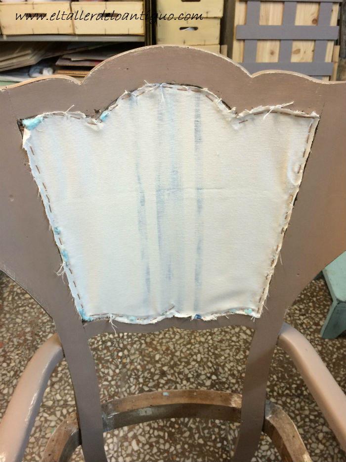 Como tapizar el respaldo de una silla de madera medidas - Como tapizar sillas antiguas ...