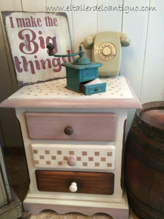Pintar muebles de pino miel el taller de lo antiguo - Como restaurar muebles ...