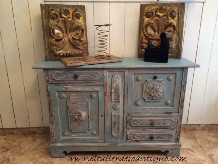 Pintar mueble t cnica decapado - Pintar muebles colores ...