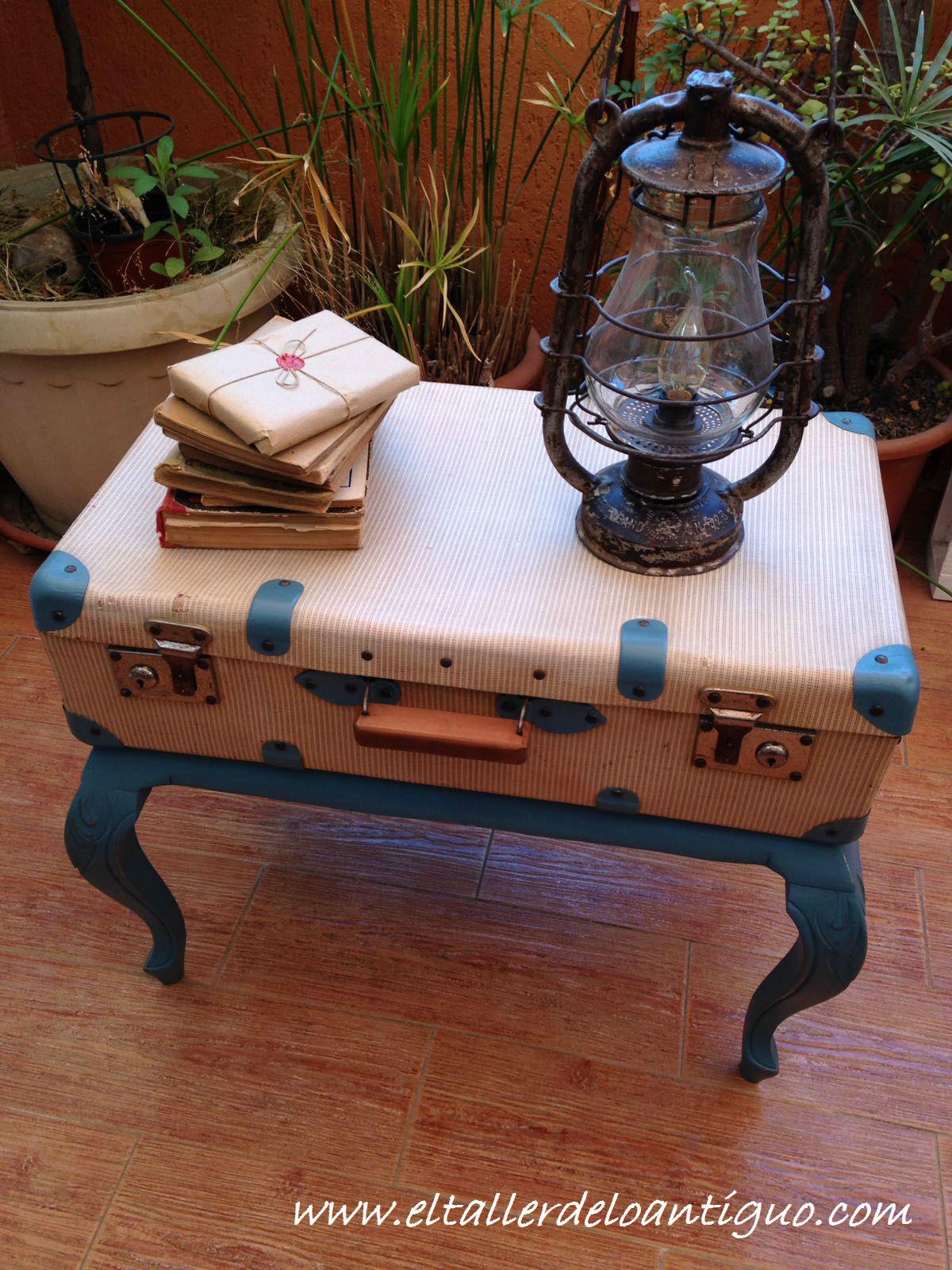 Restaurar maleta antigua y decora con ella el taller - El taller de lo antiguo ...