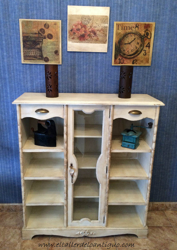 Pintar mueble rústico en blanco - El Taller de lo Antiguo