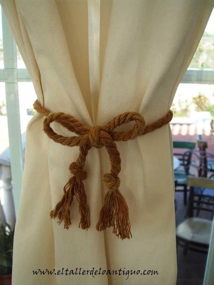 Lazos para las cortinas el taller de lo antiguo - Lazos para cortinas ...