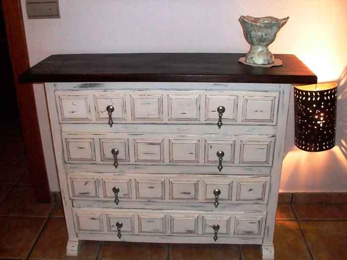 De mueble castellano a shabby chic el taller de lo antiguo - Muebles restaurados vintage ...