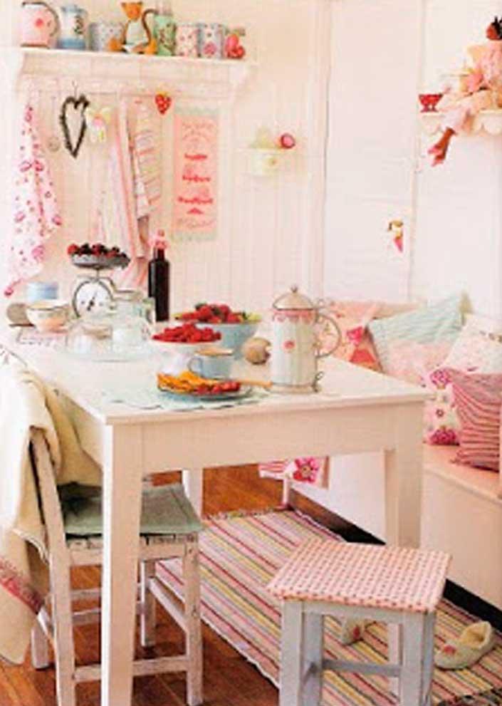 Decoraci n e ideas para mi hogar hermosos comedores al - Estilo shabby chic manualidades ...