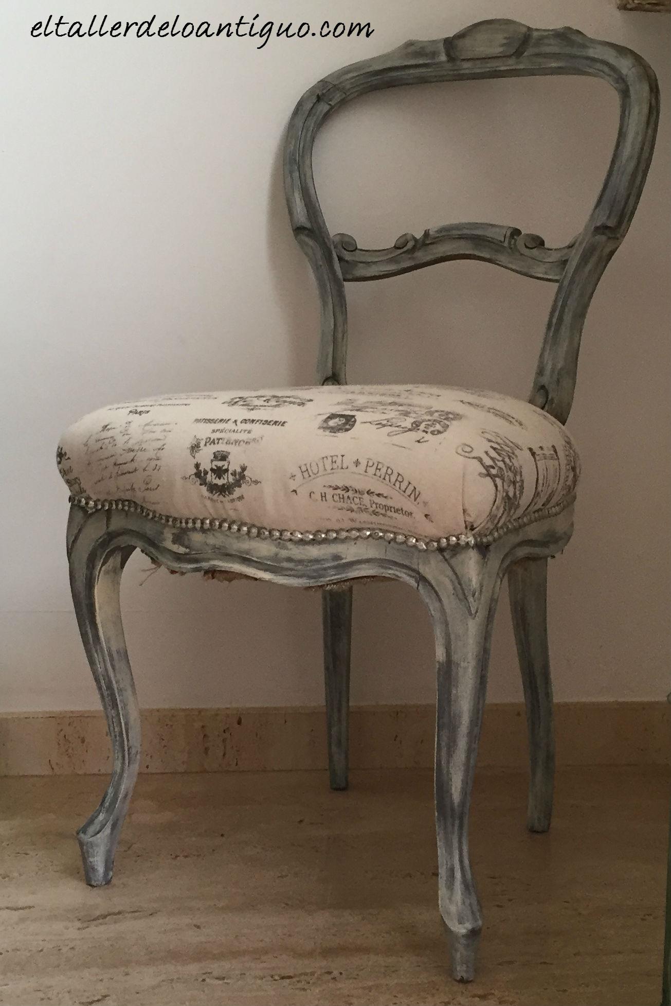 Transfers en tela la madera parte 2 el taller de lo - Como tapizar sillas antiguas ...