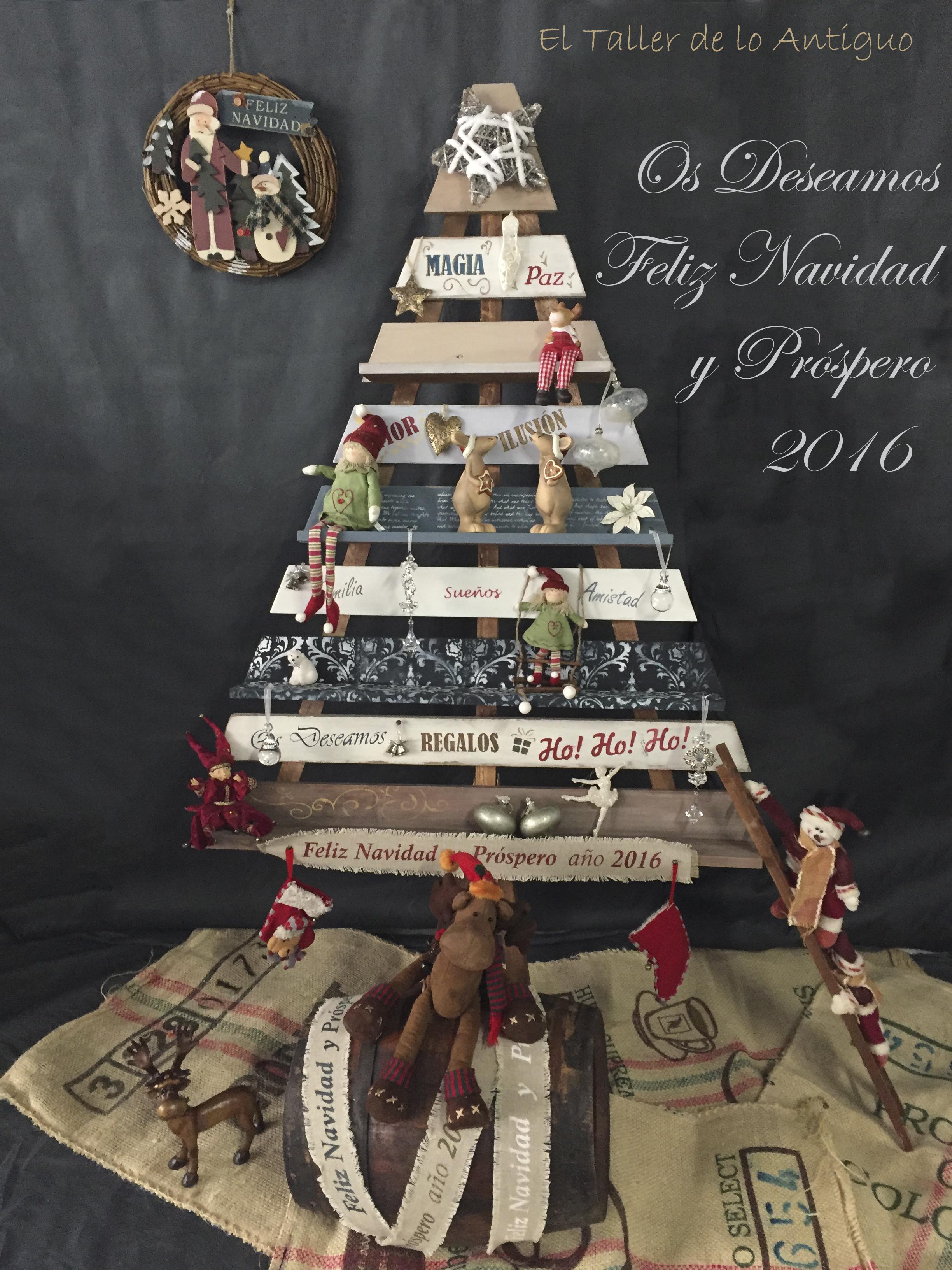 arbol de navidad de madera el taller de lo antiguo