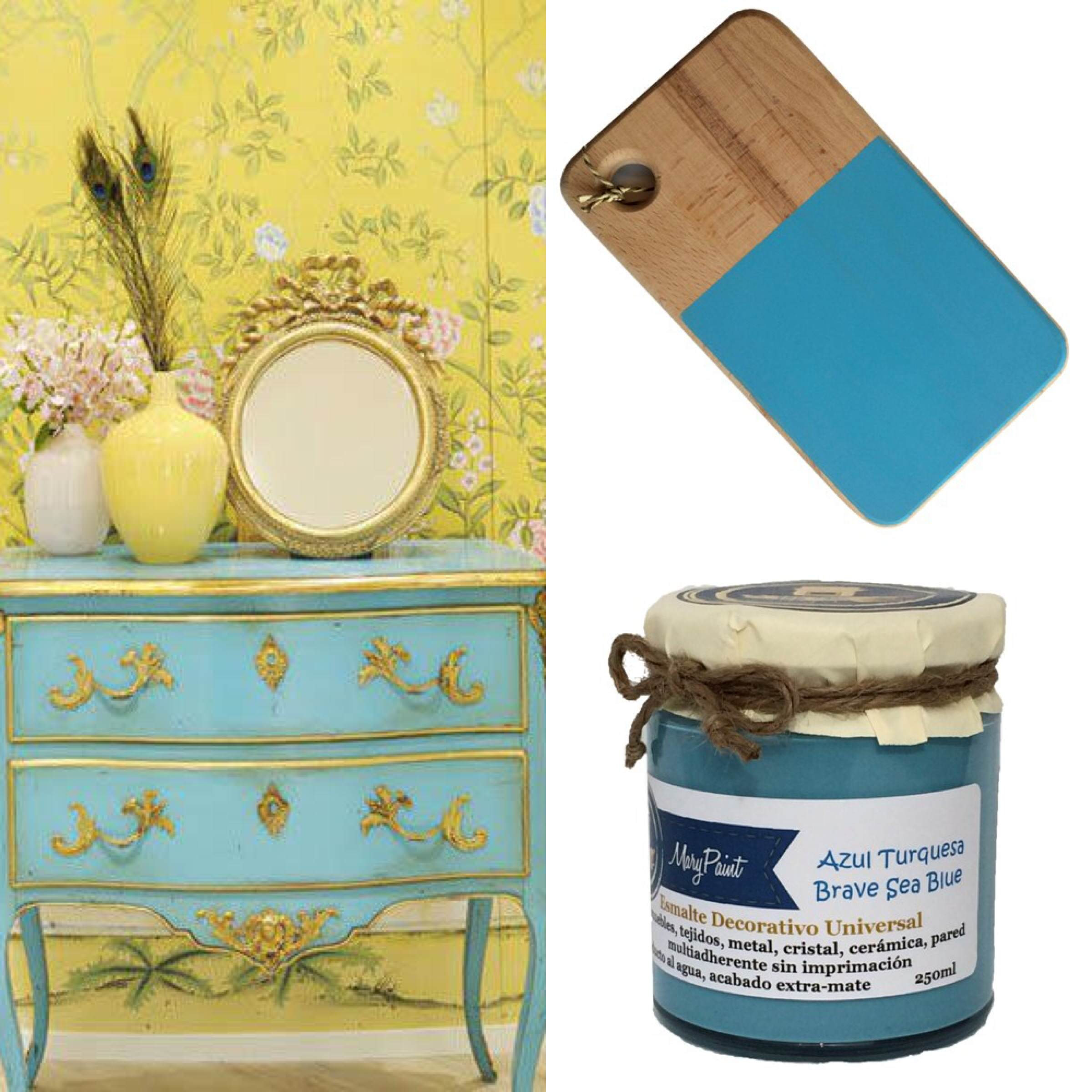 Comedor ideas de pintura roja - Pintar Muebles De Azul Turquesa