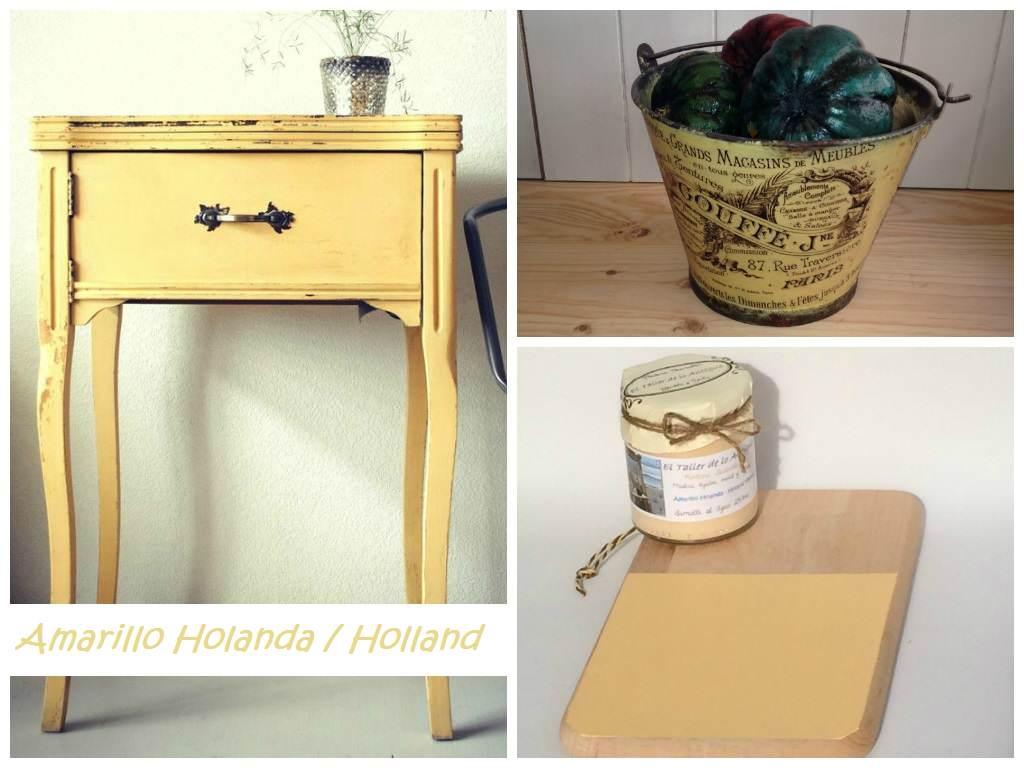 Pintar muebles de color amarillo el taller de lo antiguo for Pintar un mueble de blanco