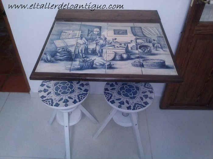 Como hacer una mesa de pared el taller de lo antiguo - El taller de lo antiguo ...