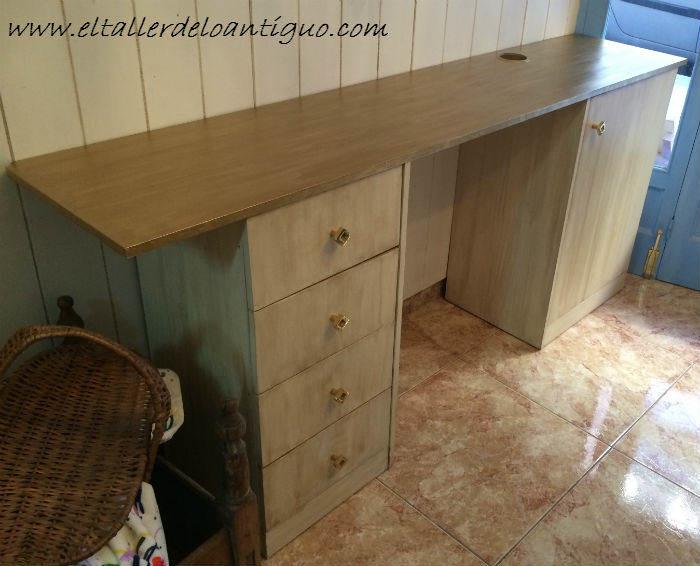 Como pintar muebles de melamina el taller de lo antiguo - Pintar armario de madera ...