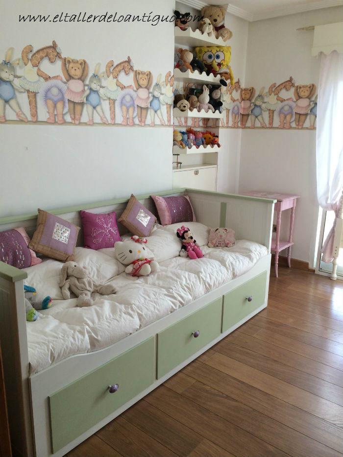Como pintar muebles de ikea el taller de lo antiguo - Muebles antiguos pintados de blanco ...