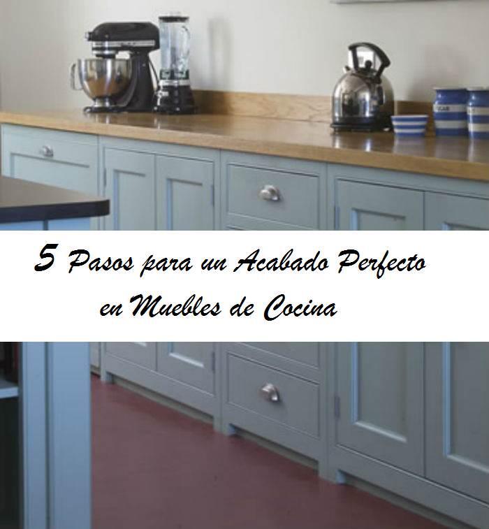 5 pasos para pintar los muebles de cocina el taller de - Pintura para muebles de melamina ...