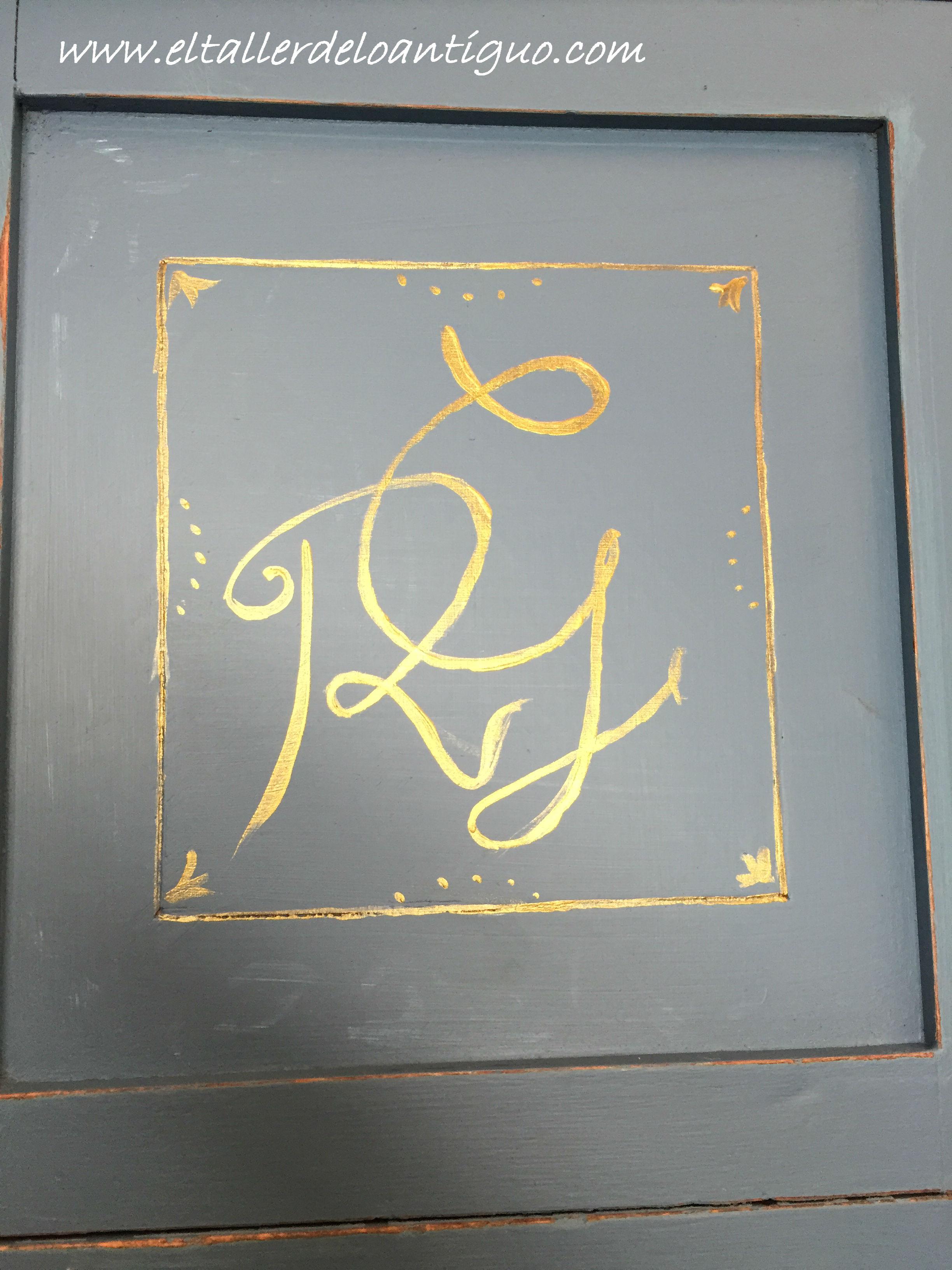 Pintar monogramas en muebles el taller de lo antiguo - Muebles naturales para pintar ...