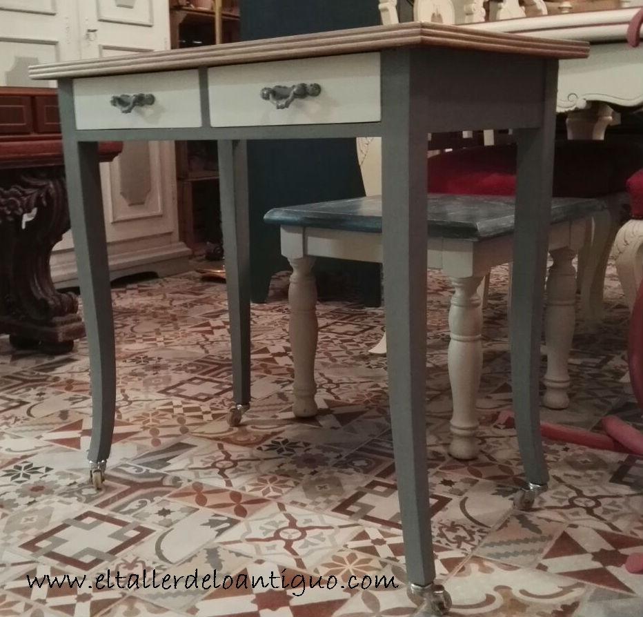 Pintar mesa de chapa el taller de lo antiguo - Como restaurar una mesa de madera ...