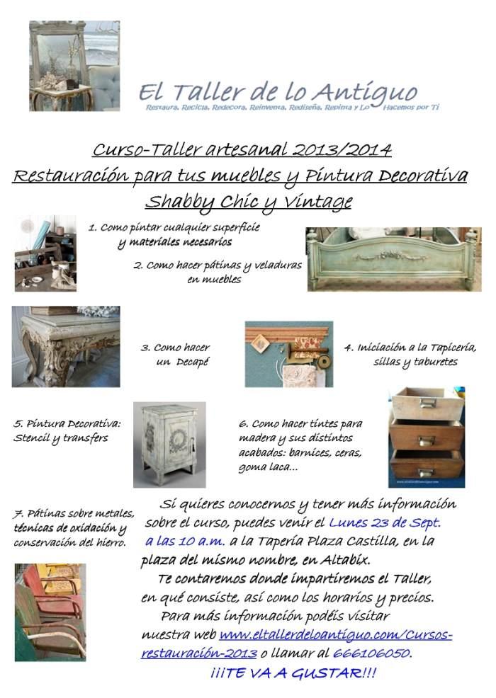 Cursos restauraci n 2013 el taller de lo antiguo - El taller de lo antiguo ...